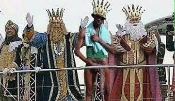 El negro del whatsapp con los reyes magos
