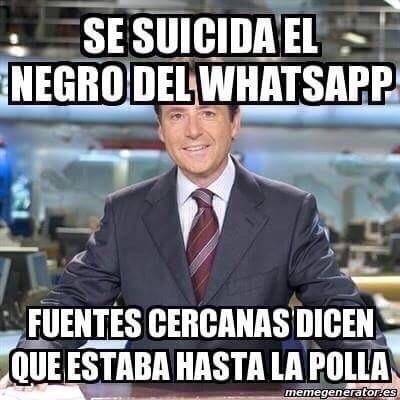 Suicidio del negro del whatsapp?