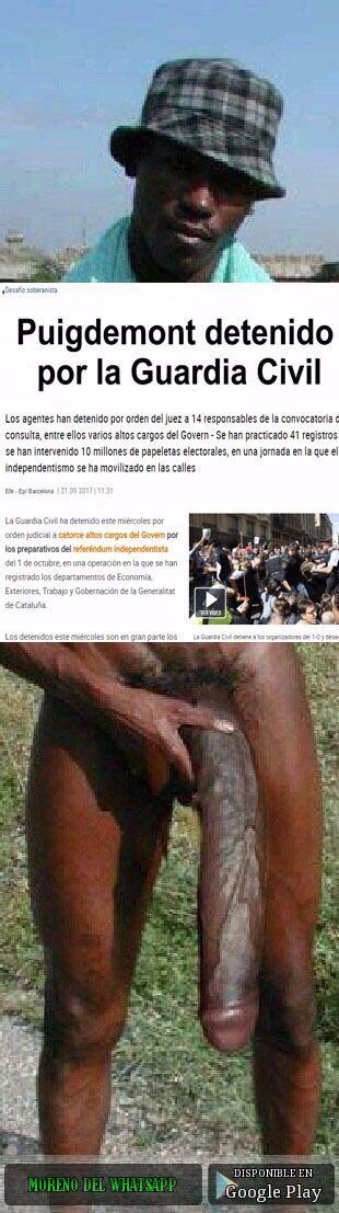 Puigdemont detenido por la Guardia Civil... o el negro del whatsapp