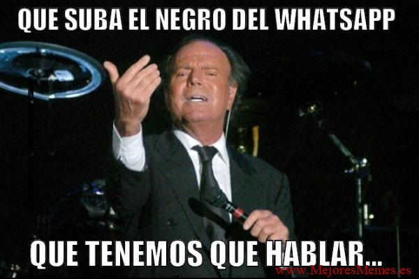 Julio Iglesias reta al Negro del Whatsapp