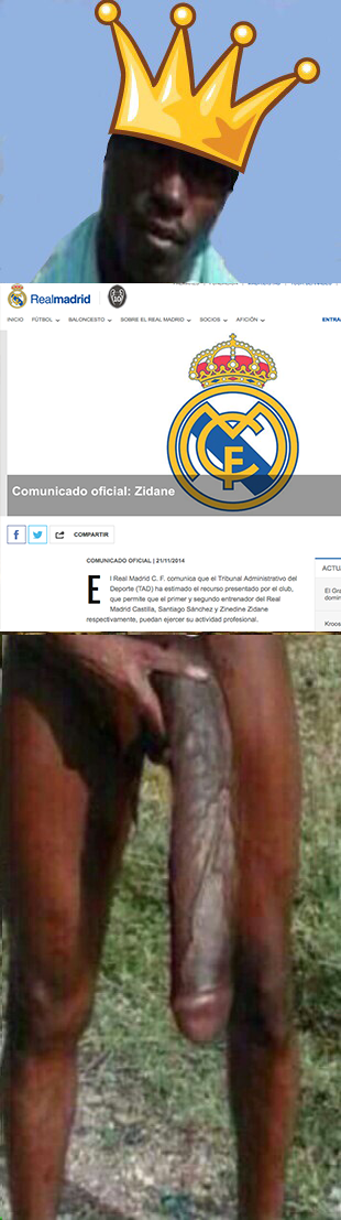 Imagen trampa del negro del whatsapp con zidane