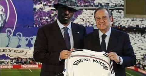 Florentino con el negro del whatsapp