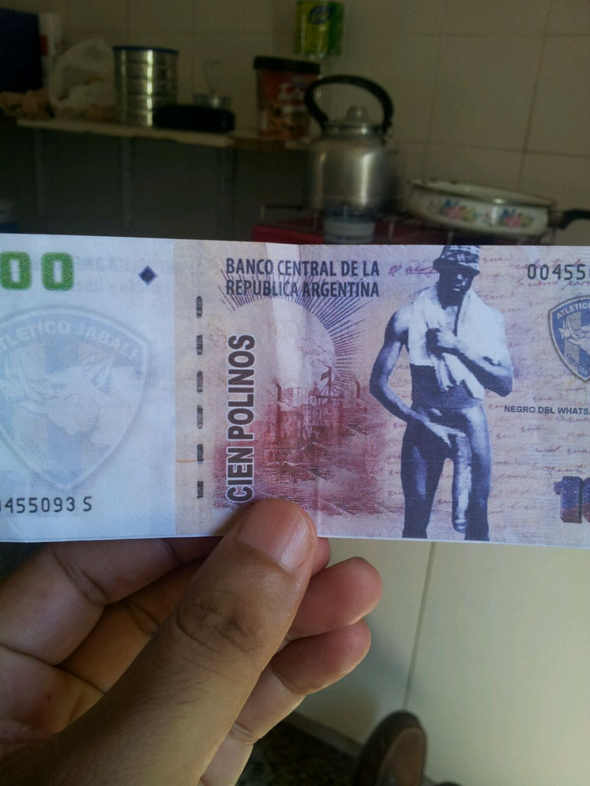 dinero del negro del whatsapp