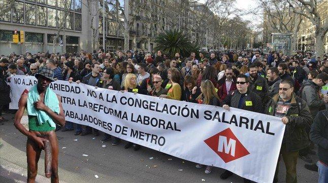 Negro whatsapp en huelga de metro