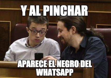 Errejon negro del whatsapp