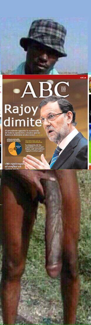 Rajoy dimite o el negro del whatsapp