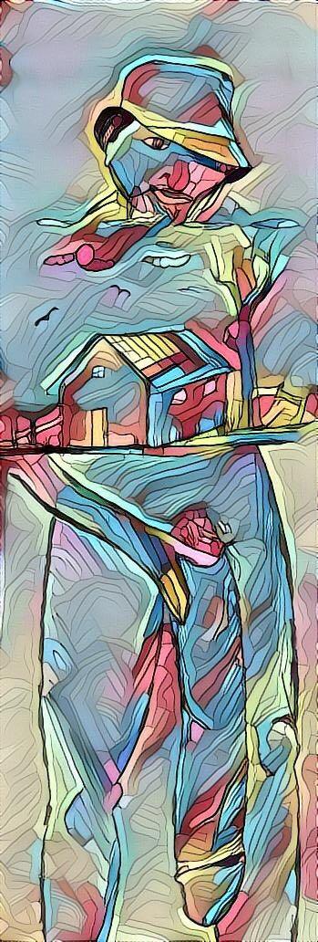 Pintura abstracta del negro del whatsapp