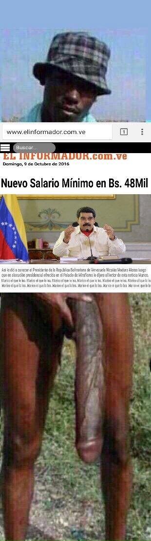 Maduro salario mínimo con Negro del Whatsapp