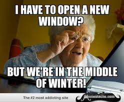 Abuela ventanas windows
