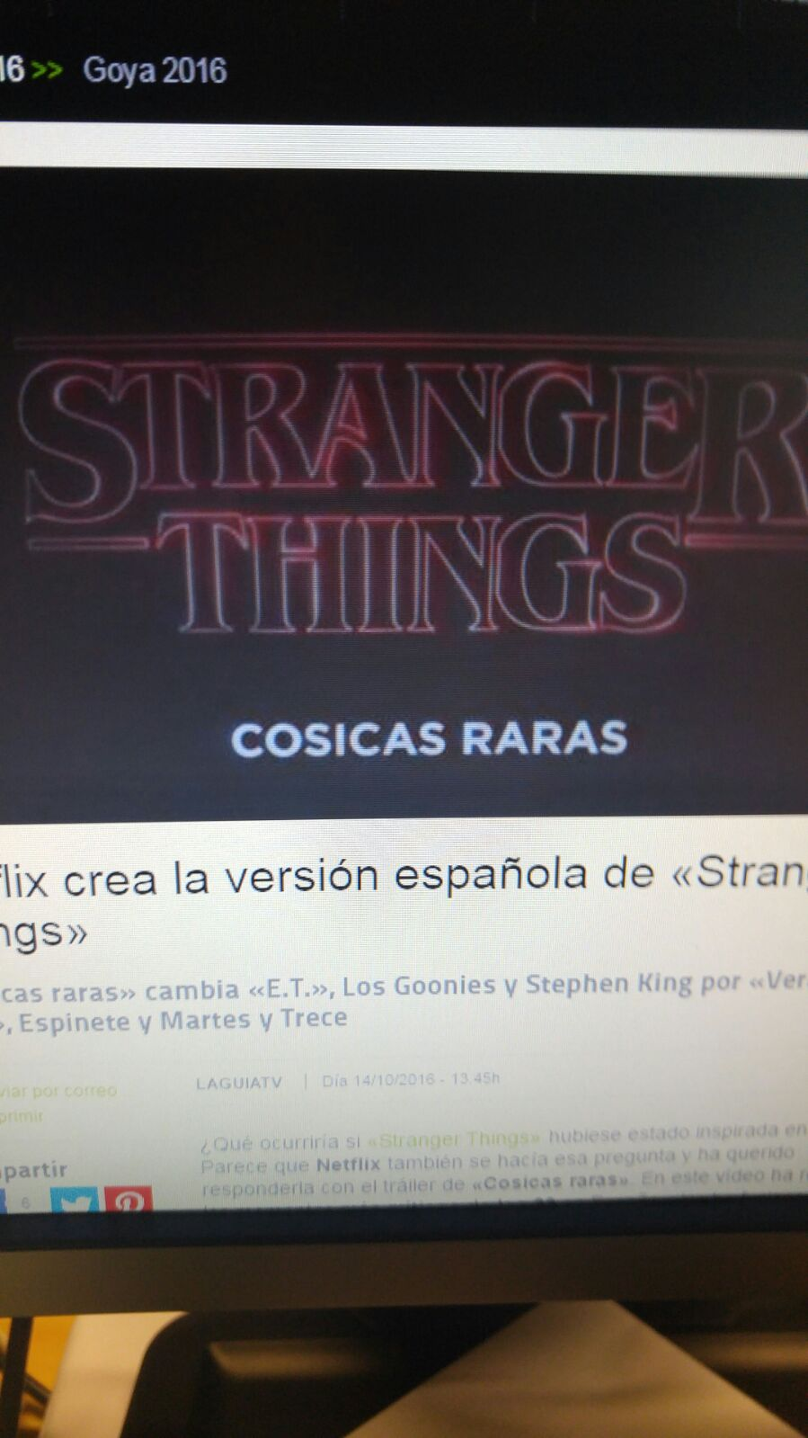 Cosicas raras: version española de stranger things