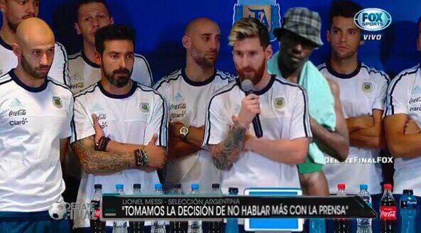 Negro del whatsapp con la selección argentina