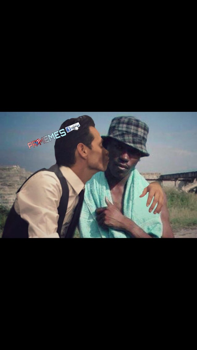 Marc anthony con el Negro del Whatsapp