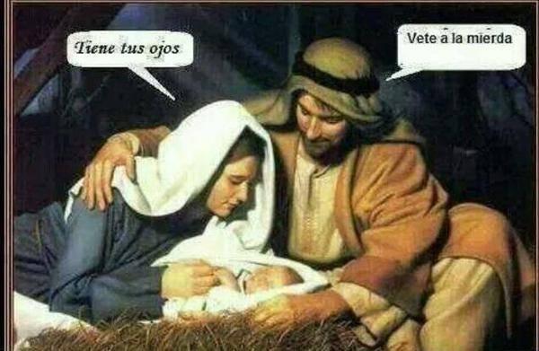 Niño Jesús tiene ojos de su padre