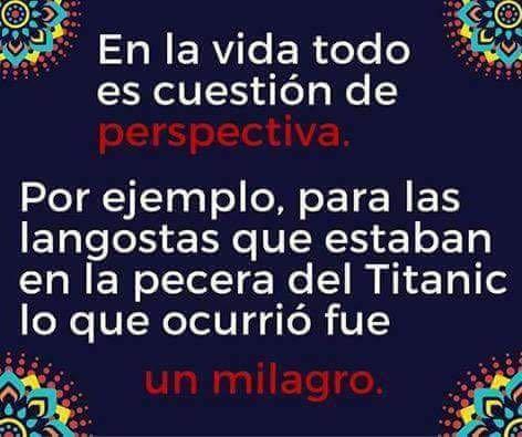 Cuestión de perspectiva: el titanic y las langostas